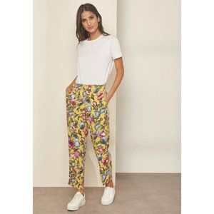 J. Crew Pull-on Easy Pant in Floral Everyday Crepe